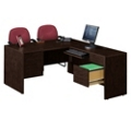 Compact L-Desk with Right Return, 10964-1