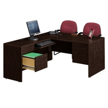 Compact L-Desk with Left Return, 10965-1