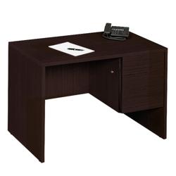 "45""W  Compact Single Pedestal Desk, 10968-1"