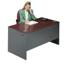"Steel Executive Desk - 60"" x 30"", 11126"
