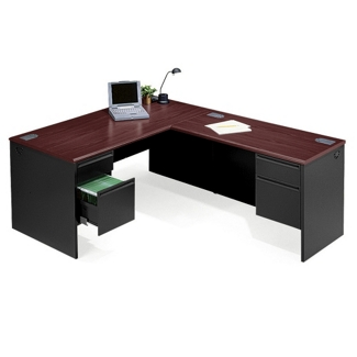 Steel L-Desk with Right Return, 11129