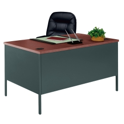 "Steel Executive Desk - 60"" x 30"", 11238"