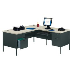 steel l desk with right return 11243 and more office desks