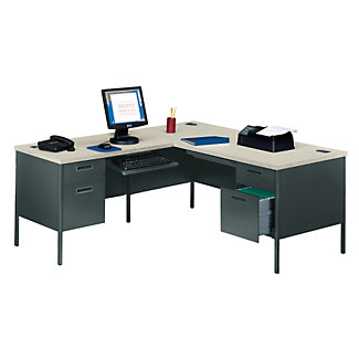 steel l desk with left return 11244 and more office desks