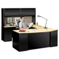Bowfront U-Desk with Hutch, 11261
