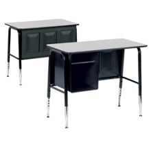 Single School Desk with Book Box, 11313