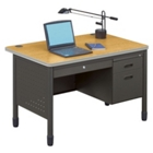 "47"" Single Pedestal Desk, 11318"