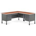 Perforated Metal L-Desk with Right Return, CD03290
