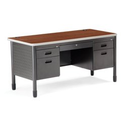 60 Double Pedestal Desk