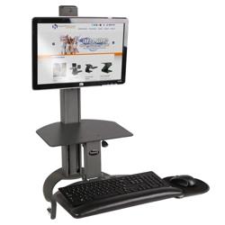 Adjustable Height Single Monitor Desktop Mount, 11329