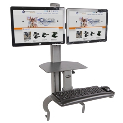 Adjustable Height Dual Monitor Desktop Mount, 11330