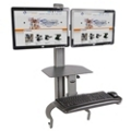 Adjustable Height Dual Monitor Desktop Mount, 11330