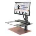Manual Adjustable Height Monitor Mount, 11333