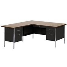Metal L-Desk with Left Return, 11938