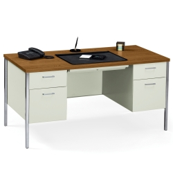 "60"" x 30"" Double Pedestal Steel Desk, 11942"