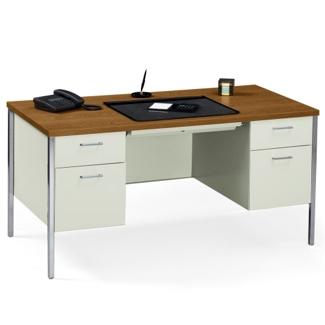 """60"""" x 30"""" Double Pedestal Steel Desk, 11942"""