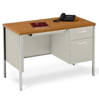 """45"""" x 24"""" Single Pedestal Steel Desk, 11943"""