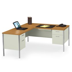 steel l desk with left return 11947 and more office desks