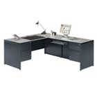 Steel L Desk with Right Return, 11997