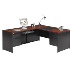 Steel L Desk with Left Return, 11998