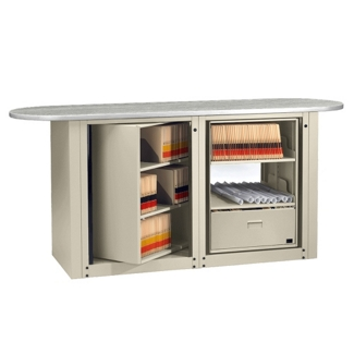 Legal Size Rotary File Work Center with Oval Top, 12004