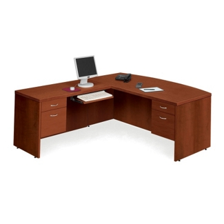 Bow Front L-Desk with Left Return, 13094