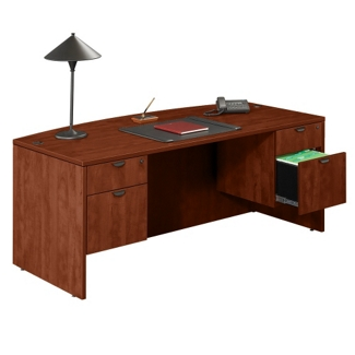 Bow Front Executive Desk, 13150