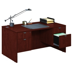 Compact Double Pedestal Desk, 13732