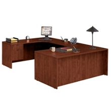"U Desk with Left Bridge - 71""x106"", 13153"