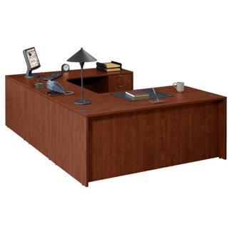 "U Desk with Right Bridge - 71""x106"", 13154"