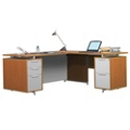 Compact Flush-Top L-Desk, 13176