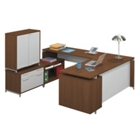 Hi-Low U-Desk with Storage Cabinet, CD02117