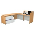 Reception L-Desk with Lateral File, 13341
