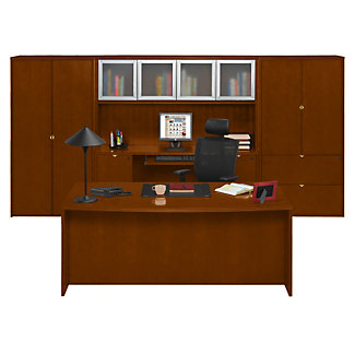 Fairbanks Executive Bowfront Desk With Storage Wall 13355 And More Office Desks