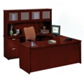 Clever U-Desk with Left Bridge and Hutch, 13386