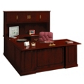 Barrington U-Desk with Right Bridge and Hutch, 13388