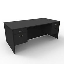 """Double Pedestal Executive Desk - 72""""W x 36""""D, 13651"""