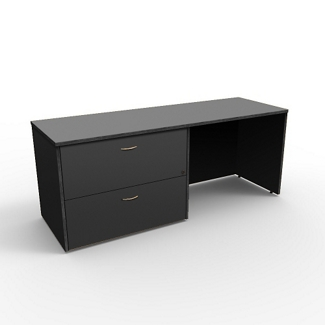 "Left Lateral File Credenza - 72""W x 24""D, 13665"