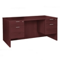"Solutions Double Three-Quarter Pedestal Credenza - 66"" x 24"", 13726"