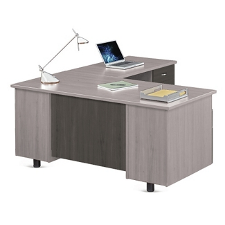 "Ascend L-Desk with Right Return - 66""W, 13866"