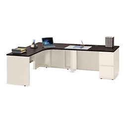 "Alloy Metal L Desk with Right Return - 72""W, 13906"