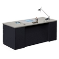 "Alloy Metal Executive Desk - 72""W, 13908"
