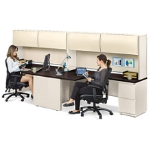 Alloy Two Person J-Desk Workstation, 13919