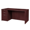 "Solutions Single Left Full Pedestal Desk - 60""W, 13988"