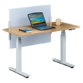 "Tabella Adjustable Height Table Desk with Privacy Screen - 48""W, 14163"