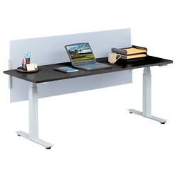"""Tabella Adjustable Height Table Desk with Privacy Screen - 72""""W, 14167"""