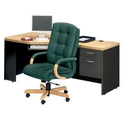 Right Pedestal Corner Desk, 15009