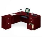 L-Desk with Left Multi-File Return, 15164
