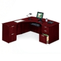 L-Desk with Left Multi-File Return, 15164