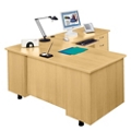 L-Desk with Right Return, 15252